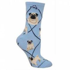 Socken HunderassenHundemotiv-Socken: Mops S