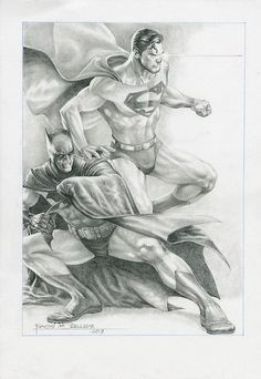 Superman and Batman by Rags Morales