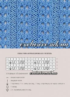 El jersey de azul turquí de Kid mohera - la Costura y la obra con Solar))) - el País de las Mamás Lace Knitting Patterns, Knitting Stiches, Cable Knitting, Knitting Charts, Easy Knitting, Knitting Socks, Stitch Patterns, Simply Knitting, Knitting Needles