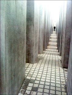 Memorial to the Murdered Jews of Europe, Berlin.  Designed by Peter Eisenman