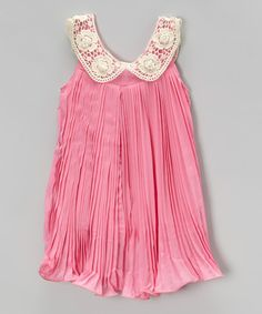 Look at this Blush Pink Pleated Swing Dress - Infant, Toddler