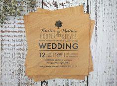 Wedding invitations -  Nice typography