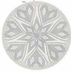 Only Crochet Patterns Archives – Beautiful Crochet Patterns and Knitting Patterns – mahimah nemati - Crochet Filet Crochet, Mandala Au Crochet, Beau Crochet, Crochet Doily Diagram, Tapestry Crochet Patterns, Crochet Circles, Crochet Round, Thread Crochet, Crochet Motif