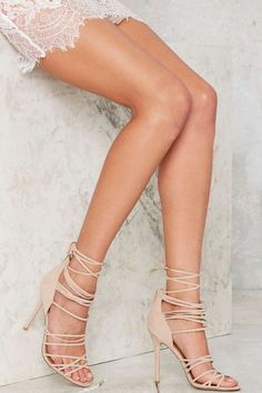 Nasty Gal Wrap in the Face Heels   Shop Shoes at Nasty Gal!