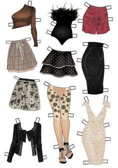 Бумажные куклы с нарядами)) | 31 фотография | ВКонтакте