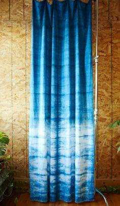 Hand Dyed Custom Indigo Shibori Curtain by PRAIRIESANDLAKES, $85.00