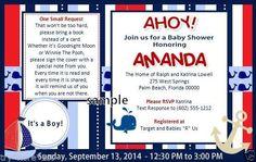 Baby Shower Invitations 15 Personalized Nautical Books Boats & Treasures #WedoFavors #BabyShowerbirthdaySprinkleSavetheDate