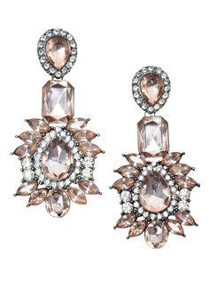Vintage Style Pink Statement Earrings