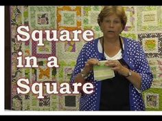 (63) Make the Square in a Square Quilt Tutorial - YouTube