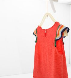 Image 4 of Crochet T-shirt from Zara