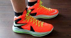 Nike #Lebron 10  Elite 'total crimson' on feet  #sneaker #sneakerhead #kick #shoe #sneakeraddict #sneakergame #hotsale #clearance #onsale  #nikeswoosh #basketball #summer13