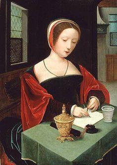 File:Master of Female Half-length - Saint Mary Magdalene at her writing desk - 16th c.jpg - Wikimedia Commons