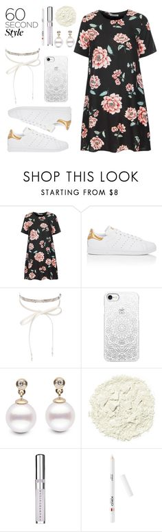 """""""my lovely set"""" by bad-bunny15 ❤ liked on Polyvore featuring Glamorous, adidas, nOir, Casetify, Illamasqua, Chantecaille, tshirtdresses and 60secondstyle"""