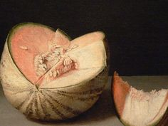 Fra Juan Sánchez Cotan 'Quince, Cabbage, Melon and Cucumber' (detail) 1603 | Flickr - Photo Sharing!