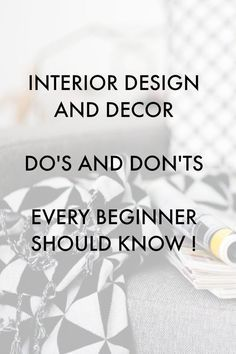 Interior Design Advice Dos And Donts Every Beginner Should Know