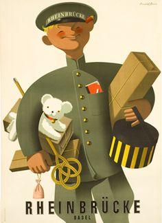 Brun, Donald poster: Rheinbrucke (valet)