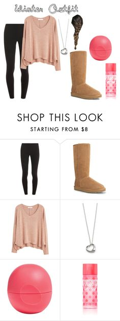 """""""Winter Outfit"""" by villani ❤ liked on Polyvore featuring Splendid, UGG Australia, MANGO, Elsa Peretti, Eos and Victoria's Secret"""