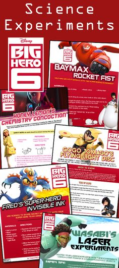 The Big Hero 6 team is super smart, so you have to be super smart to hang with… Cool Science Experiments, Science For Kids, Science Projects, 6th Birthday Parties, Boy Birthday, Birthday Ideas, Big Hero 6 Party Ideas, Big Heroes, The Big Hero