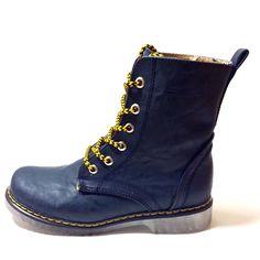 Combat Boot in Navy Blue #veganboots #veganshoes #fashion #womansshoes #shoes #vegan
