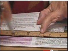 cómo hacer, medir y cortar bolas de papel  how to make, measure and cut paper balls