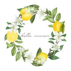 Lemon Watercolor, Watercolor Flowers, Watercolor Food, Branch Drawing, Lemon Flowers, Wedding Graphics, Lemon Wreath, Wedding Illustration, Big Balloons