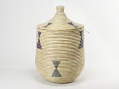 The perfect handmade ali baba laundry basket, beautiful yet practical it would be the feature of any room.