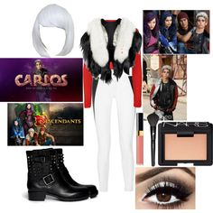 My descendants Carlos outfit #descendants #rottentothecore by theparisvogue on Polyvore featuring WearAll, rag & bone/JEAN, Valentino, NARS Cosmetics, Chanel, Lancôme and Disney