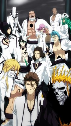 Aizen and the Espadas...made for an arc and a half this lot!
