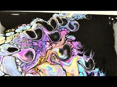 (12) Flip cup method with bright colors on black background - YouTube