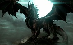 ❤ Get the best Fantasy Dragon Wallpapers on WallpaperSet. Only the best HD background pictures. Dragon 2, Water Dragon, Dragon Rider, Black Dragon, Best Hd Background, Background Pictures, Fantasy Kunst, Fantasy Art, More Wallpaper