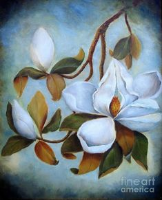 magnolia tree paintings | ... Magnolia Tree Painting - Summer Under The Magnolia Tree Fine Art Print