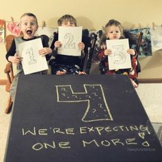 Adorable baby announcement. Baby number 4 www.MommyMafiaMIAMI.com