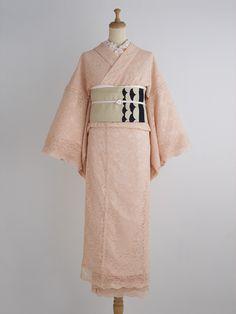 DOUBLE MAISON   Sakura Kimono thin orange pekoe lace