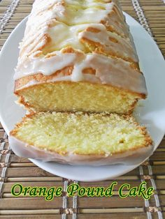 Orange Pound Cake With Orange Glaze...from scratch!! #poundcakes #valentinesday #orangecake #cakes