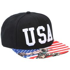 Capcom Street Fighter USA Embroidered Snapback Hat (€15) ❤ liked on Polyvore featuring jewelry, multi, american flag jewelry, embroidery jewelry, embroidered jewelry, white jewelry and capcom