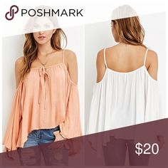 HOST PICKNWTForever 21 Boho Long Sleeve Top ACCEPTING OFFERS. No low ballers or Trades. New with tag. Wrinkled but can easily be ironed. Can also fit a medium. (I usually wear mediums) Very boho and cute for the summer and spring. Orangey peach color. Pair with jeans, shorts, or a skirt with sandals. Retail $28 Forever 21 Tops