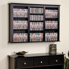 Triple Wall Mounted Multimedia Storage