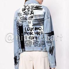 Раскрашенные Джинсы, Наряды С Джинсовыми Куртками, Джинсовые Одеяла, Джинсовый Пиджак, Кожаные Куртки, Куртки, Перешитая Одежда