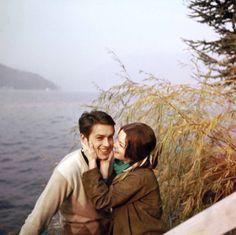 alaindelon:  With Romy in 1959.