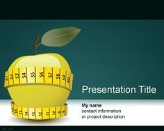 Free apple PowerPoint template for presentations on diet