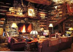 Cozy. I can imagine this being in a very remote cabin up in the mountains somewhere. I would like to be there right now.