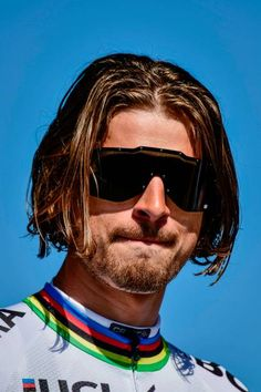 Slovakian Peter Sagan of BoraHansgrohe looks on during the team presentation n April 8 2017 on the eve of the ParisRoubaix cycling race in Compiegne...