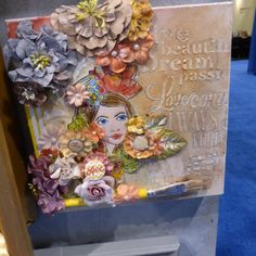 Another Prima Bloom Girl mixed media lovely from the Winter tradeshow. Simple Pleasures Stamps and Scrapbooking.