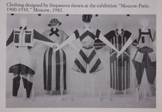 Varvara Stepanova clothes designs