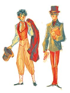 Courfeyrac and Combeferre! Character Concept, Character Art, Character Design, Les Miserables, Theatre Problems, Documentary Film, Lady And Gentlemen, Little Red, Easy Drawings
