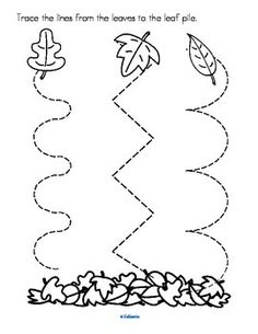 Fun Fall Crafts, Chestnuts Halloween Decorations and Craft Ideas for KidsFun fall crafts batsFall Crafts Trace The LineFall Crafts Trace The Line See the category to find more printable coloring sheets. Fall Preschool Activities, Homeschool Kindergarten, Free Preschool, Preschool Printables, Preschool Worksheets, Preschool Crafts, Jolly Phonics Activities, Preschool Writing, Montessori Education