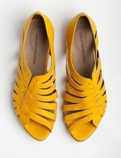 Zapatos de mujer - Womens Shoes - yellow flats