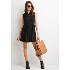 Buttoned Collared Dress Super cute! Forever 21 Dresses