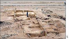 The remnants of middle-status housing Caral, Peru