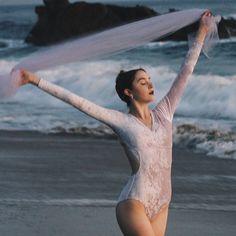 """""""Daydream"""" Velvet Leotard in Lavender Mist"""